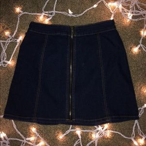 Denim Zipper F21 Skirt
